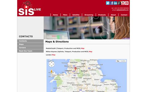 Screenshot of Maps & Directions Page sislive.tv - SIS LIVE - Maps and Directions - captured Sept. 30, 2014