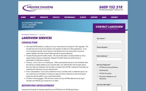 Screenshot of Services Page lakesview.com.au - Lakesview Services - captured Oct. 1, 2014