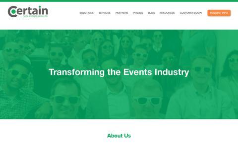 Enterprise Event Automation Platform   Certain, Inc.