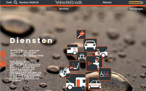 Screenshot of Home Page wellcoll.nl - WellColl Groep| Verrassend veelzijdig| Autoschade | Ruitschade | Caravan | - captured Oct. 18, 2018
