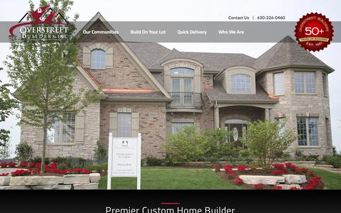 Screenshot of Home Page overstreetbuilders.com - Overstreet Builders | New Homes in Chicago Illinois - captured Sept. 30, 2014