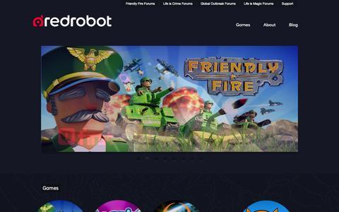Screenshot of Home Page redrobotlabs.com - Red Robot - captured Sept. 17, 2014