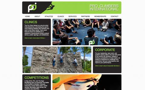 Screenshot of Services Page proclimbers.com - Professional Climbers International - captured Oct. 1, 2014