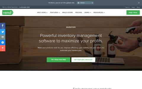 Screenshot of Products Page vendhq.com - Powerful inventory management software | Vend POS - captured Dec. 4, 2017