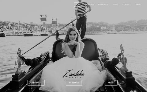 Screenshot of Home Page zandoleemedia.com - Home - captured Oct. 20, 2018