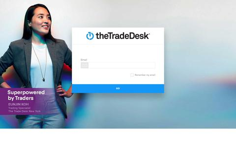 Screenshot of Login Page thetradedesk.com - Log In - captured Feb. 22, 2020