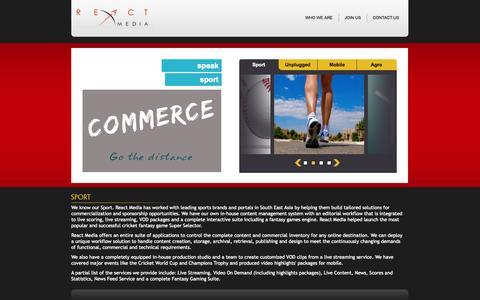 Screenshot of Home Page ecfindia.com - React Media Pvt Ltd - Home - captured Oct. 1, 2014