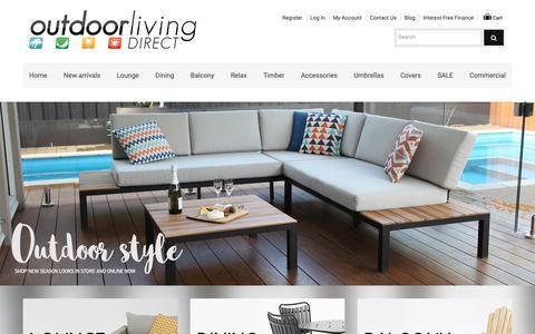 Screenshot of Home Page outdoorlivingdirect.com.au - Simply the Best Value Outdoor Furniture Melbourne, Sydney, Brisbane, Perth - captured Oct. 20, 2018