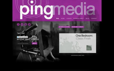 Screenshot of Home Page pingvideo.tv - Long Island Video Production - Ping Media - captured Oct. 2, 2014