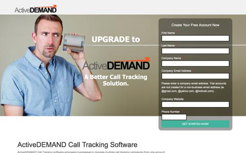Screenshot of Landing Page activedemand.com - Get More From Your Call Tracking - captured July 12, 2017