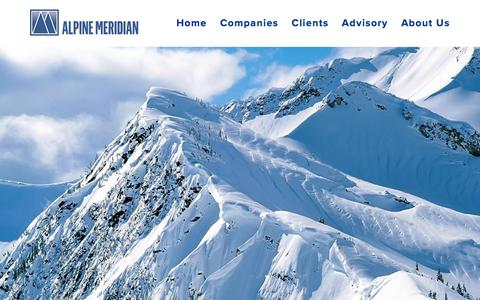 Screenshot of Home Page alpinemeridian.com - Alpine Meridian - captured Feb. 5, 2016