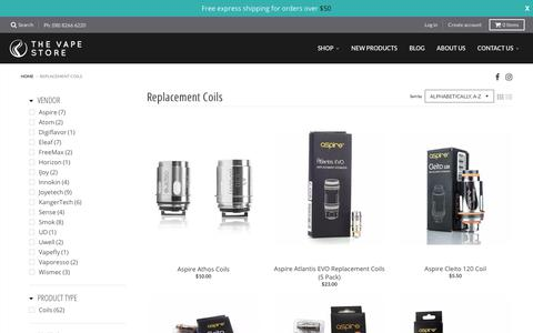 Replacement Coils – The Vape Store