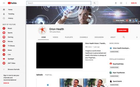 Orion Health - YouTube - YouTube
