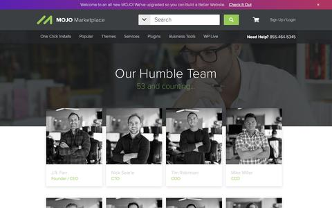 Screenshot of Team Page mojomarketplace.com - Get to know the MOJO Marketplace Team! - captured March 31, 2017