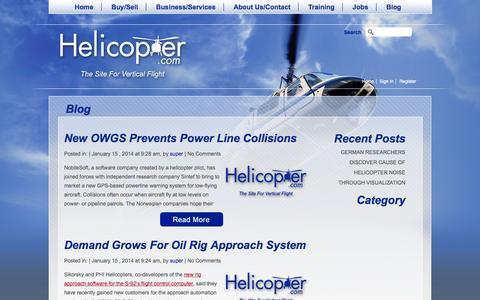 Screenshot of Blog helicopter.com - Blog | Helicopter.com - captured Nov. 2, 2014