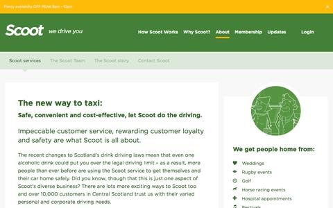 Screenshot of About Page scootltd.co.uk - Scoot services - Scoot - captured July 23, 2016