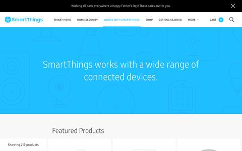 Screenshot of Products Page smartthings.com - SmartThings - captured June 18, 2018