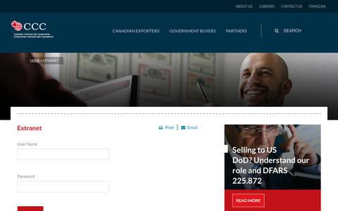 Screenshot of Login Page ccc.ca - Canadian Commercial Corporation - captured July 12, 2017