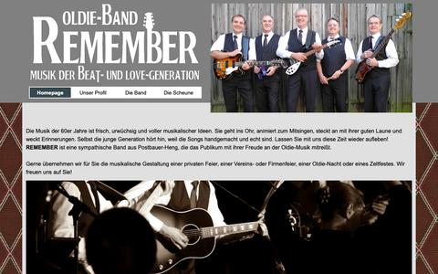 Screenshot of Home Page remember-band.de - Oldie-Band Remember - captured Oct. 30, 2018