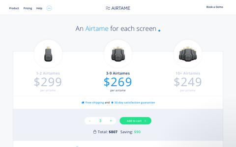 Airtame Pricing Price starting from 249 | Airtame