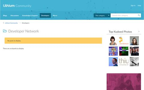 Developer Network - Lithium Community