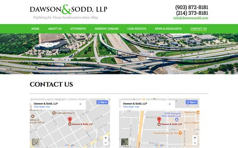 Screenshot of Contact Page dawsonsodd.com - Contact Us | Dawson & Sodd - captured Oct. 18, 2017