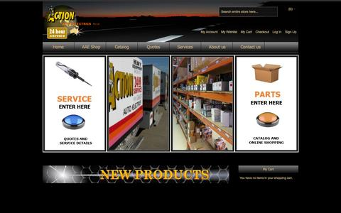 Screenshot of Home Page actionauto.com.au - Action Auto Electrics, heavy machinery and truck electrical specialists, Brisbane - captured Oct. 4, 2014