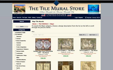 Screenshot of Maps & Directions Page tilemuralstore.com - Map tile murals Tile murals with maps Maps on tile Decorative map tiles - captured Oct. 20, 2018