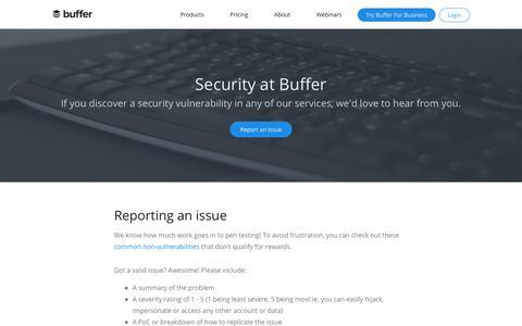 Security | Buffer