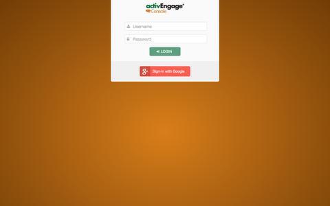 Screenshot of Login Page activengage.com - ActivEngage Security Gateway - captured Jan. 23, 2019
