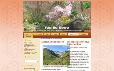 Screenshot of Blog feng-shui-elauper.de - Feng Shui Autoren Blog der Firma Feng Shui Elauper - captured April 2, 2017