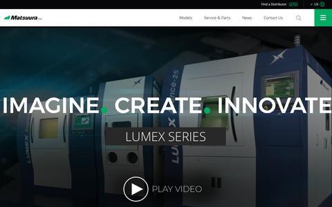 Screenshot of Home Page matsuurausa.com - Matsuura Machinery USA: Leading the way in engineering tech. - captured Feb. 6, 2019