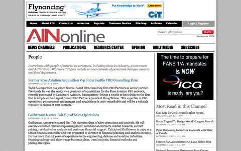 Screenshot of Team Page ainonline.com - People | Aviation International News - captured Sept. 23, 2014