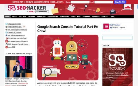 Screenshot of Home Page seo-hacker.com - Basic and Advanced SEO Tutorials and News - SEO Hacker Blog - captured Sept. 2, 2017