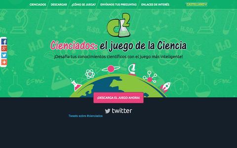 Screenshot of Home Page cienciados.es - Cienciados - captured Sept. 11, 2015