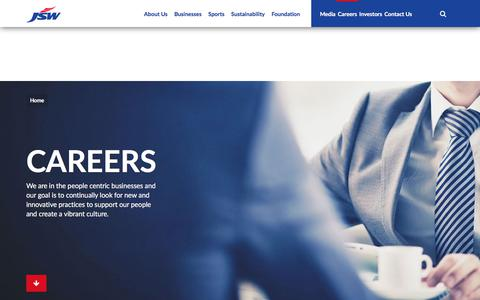 Screenshot of Team Page jsw.in - JSW - Careers - captured Sept. 20, 2018