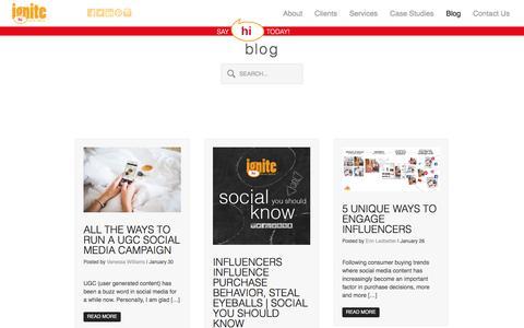 Ignite Social Media – The original social media agency | Social Media Marketing Blog