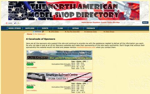 Screenshot of Support Page modelshopsusa.com - THE Model Shop Directory of North America - Sponsors - captured March 3, 2016