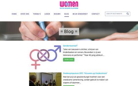 Screenshot of Blog wo-men.nl - Blog - WO=MEN - captured Sept. 21, 2018