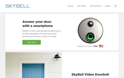 SkyBell WiFi Doorbell - Answer Door from SmartPhone – SkyBell Video Doorbell