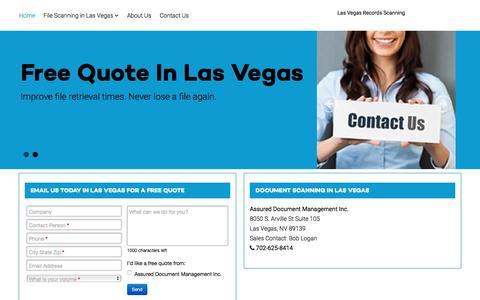 Screenshot of Home Page documentscanning-las-vegas.com - Las Vegas scanning companies - Las Vegas Document Scanning - captured Feb. 9, 2016