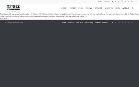 Screenshot of Press Page tzell.com - News - Tzell Travel Group - captured July 3, 2017