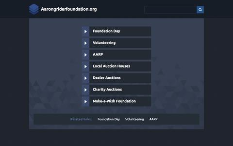 Screenshot of Home Page aarongriderfoundation.org - Web hosting provider - Bluehost.com - domain hosting - PHP Hosting - cheap web hosting - Frontpage Hosting E-Commerce Web Hosting Bluehost - captured Nov. 9, 2017
