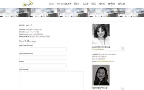 Screenshot of Contact Page lppinsurance.com - Lawyer's Protector Plan  Contact Malpractice Insurance Program for Lawyers - captured Dec. 14, 2018
