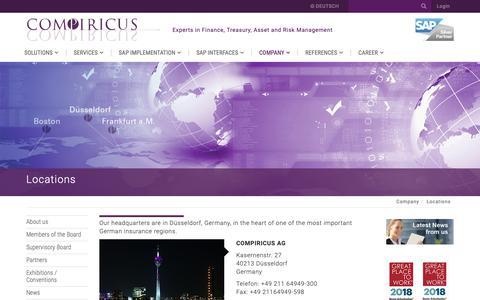 Screenshot of Locations Page compiricus.com - Locations • COMPIRICUS - captured Sept. 25, 2018
