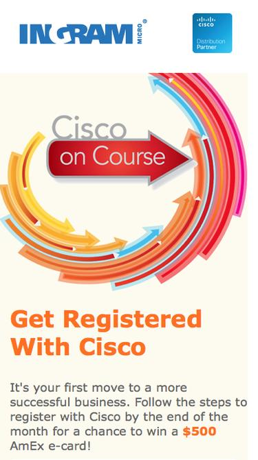 Become Cisco Registered Partner