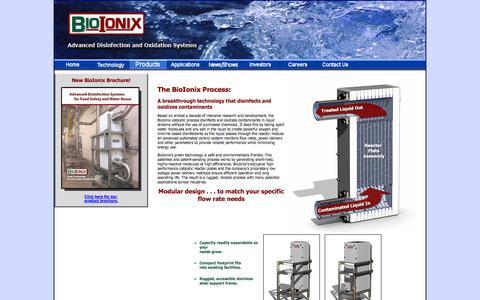 Screenshot of Products Page bioionix.com - BioIonix, Inc. - captured Sept. 30, 2014