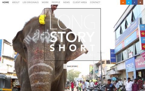 Screenshot of Home Page lssmedia.com - Long Story Short Media - Long Story Short Media Home - Long Story Short Media - captured Feb. 1, 2016