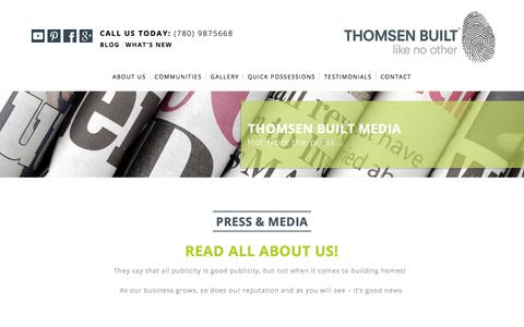 Screenshot of Press Page thomsenbuilt.com - Media | Thomsen Built - captured Sept. 21, 2018