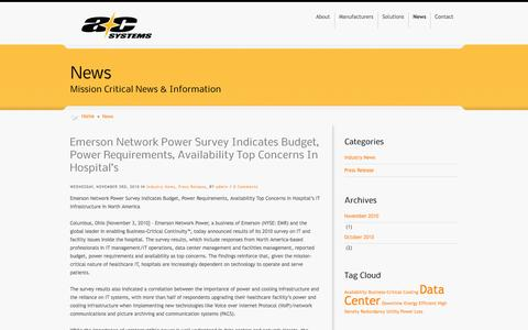 Screenshot of Press Page acsystems.com - News - AC Systems - captured Sept. 30, 2014